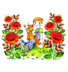 summer holidays children vector image
