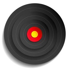 Target black vector image