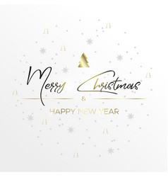 the black inscription christmas and magic light vector image