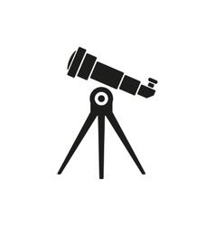 The telescope icon Spyglass symbol Flat vector