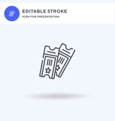 Tickets icon filled flat sign solid vector