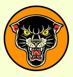 Tiger black old scholl tattoo vector