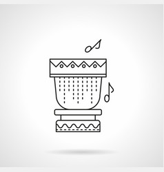 tropical drum flat line icon vector image