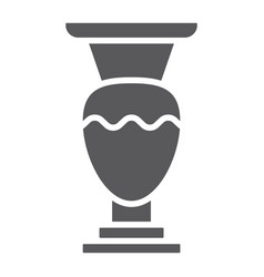 vase glyph icon home and decoration pot sign vector image