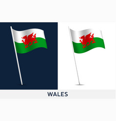 Wales flag waving national flag isolated vector