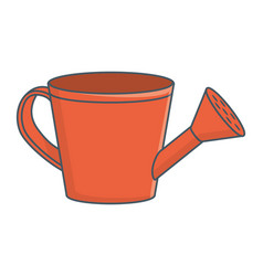 Watering can cartoon vector