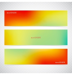 Colorful Horizontal Set Of Banners Modern vector image
