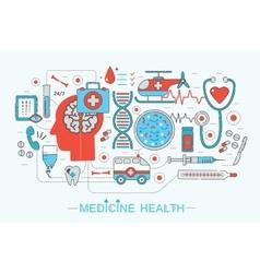 Modern Flat thin Line design science medical vector image vector image
