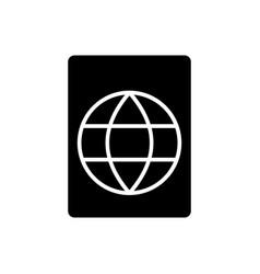 passport icon black sign on vector image