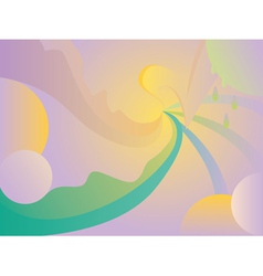 Abstract curvy background vector image vector image