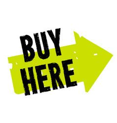 buy here sticker vector image