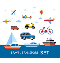 digital blue red travel transport vector image