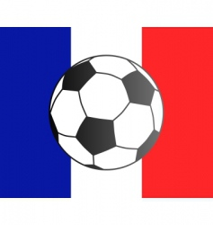 flag of France and soccer ball vector image