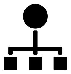 Hierarchy flat icon vector