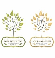 label trees vector image