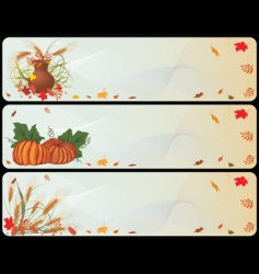 set of autumnal banners vector image vector image