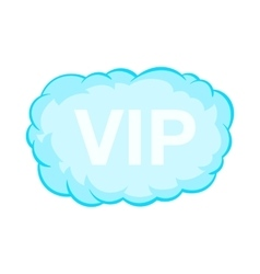 VIP word in a cloud icon cartoon style vector image
