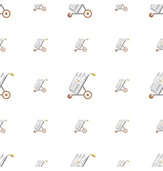 background for golf hand truck vector image