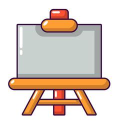 canvas icon cartoon style vector image vector image