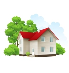 cool detailed house icon vector image