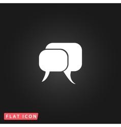 dialogue quote icon vector image vector image