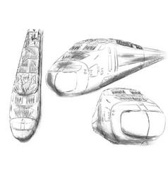 shinkansen vector image vector image