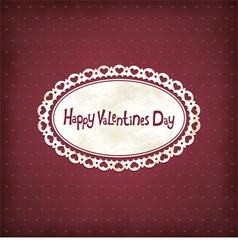 Vintage valentines day vector