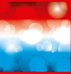 flag american colors blurred glowing background vector image