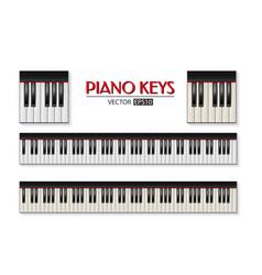 photorealistic piano keyboard icon set vector image
