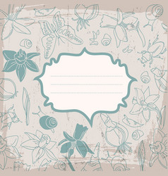 soft color flowers background vector image vector image