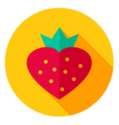 sweet strawberry circle icon vector image