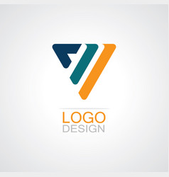 triangle shape logo vector image