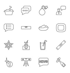 16 bubble icons vector image