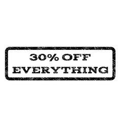 30 percent off everything watermark stamp vector
