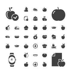 37 apple icons vector