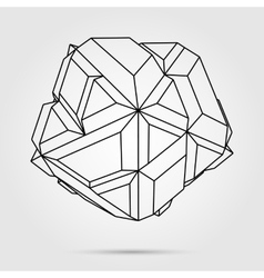 3D concept vector image