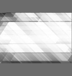Abstract background with grey geometric shape vector