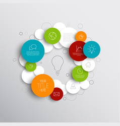 Abstract circles infographic template vector
