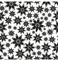 Abstract floral star anise spice theme seamless vector