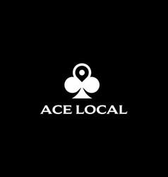 Ace local logo design concept vector