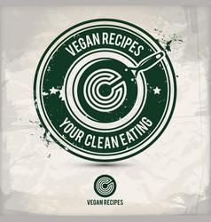 alternative vegan recipes stamp vector image