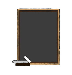 Board draw chalk vector