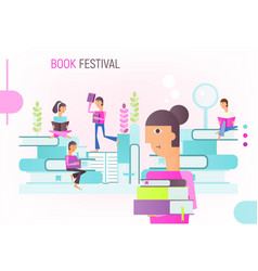 book festival fair vector image
