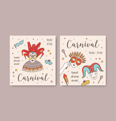 bundle square card or party invitation vector image