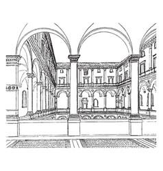 Cancellaria palace distinctive feature of italian vector