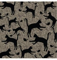 cat pattern print vector image