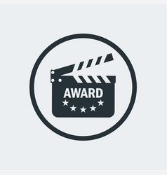 cinema award clapperboard vector image