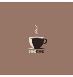 Coffee cup design background vector
