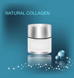 Collagen solution jar with cream vector
