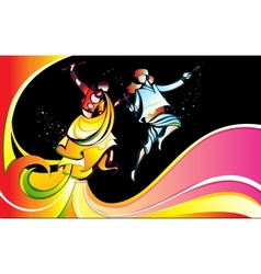 Colorful Dandiya vector